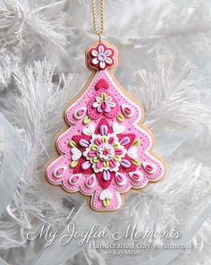 Handcrafted Polymer Clay Christmas Tree by MyJoyfulMoments on Etsy