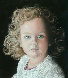 Portret 30x40 Olieverf op linnen Juliette swillens