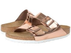Birkenstock - Arizona Soft Footbed (Copper Leather) Women's Dress Sandals