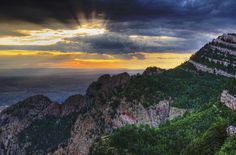 "Sunset from Sandia from the post, ""Inner Wildness"" 