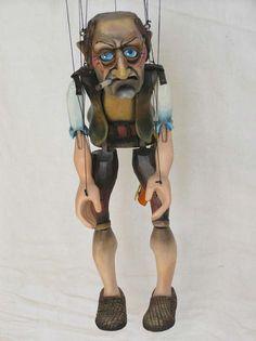 "VSG s.r.o. ""Czech Puppets"" :: Wood marionettes :: Hock-shop man, marionette puppet"
