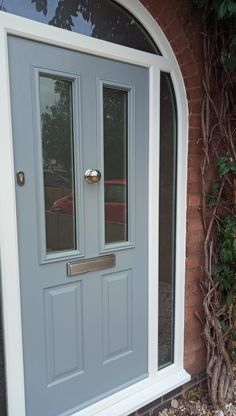 Have Your New Solidor Timber Composite Door Arched, either the whole door or an Arched Frame. Arched Front Door, Victorian Front Doors, Grey Front Doors, Beautiful Front Doors, Arched Doors, Exterior Front Doors, House Front Door, House Doors, Porch Uk