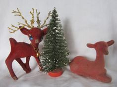 Vintage Lot Of Christmas Craft Supplies Flocked by AuntSuesVintage, $9.99