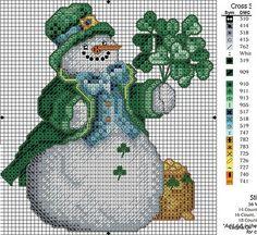 Real Irish snowman - free pattern