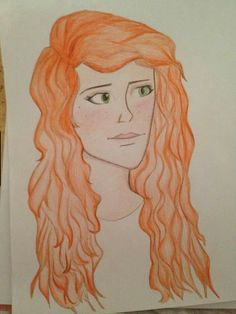 One of my bestfriends drew Clary Fray / Clary Morgenstern for me. (: