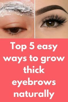Top 5 easy ways to grow thick eyebrows naturally In this post I will show How to grow long thick eyelashes & eyebrows FAST, Guaranteed Longer and thicker eyelashes. Make Eyebrows Grow, How To Grow Eyelashes, Growing Eyebrows Back, Long Thick Eyelashes, Thicker Eyelashes, Longer Eyelashes, Thick Brows, Fake Lashes, False Eyelashes