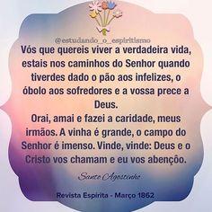 #estudando_o_espiritismo #espiritismo #revistaespirita #allankardec #kardec #jesus #santoagostinho ...