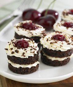 Mini Black Forest Cake Cookies