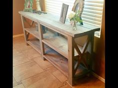 Farm style Console table or sofa / entry - whatever you want it to be! - YouTube