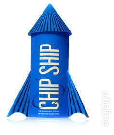 """25 Examples Of Creative And Unique Food Packaging Designs. Chip Ship. """"The package resembles a rocket ship ready to launch"""""""