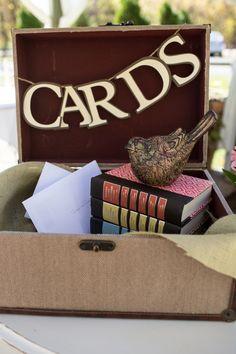 Cards Display At Vintage Wedding