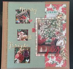 Layout design by Jennifer Gatewood for Scrappin' in the City. Christmas Scrapbook, Scrapbooks, Layout Design, Merry, City, Navidad, Scrapbook, Page Layout, City Drawing
