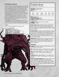 The Trollithic Beast :CR6 UnearthedArcana