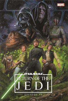 margaretems: Star Wars - Return of the Jedi (for the Original Trilogy Remastered OGN) by Adi Granov Not gonna lie, I love RotJ art that doesn't feature slave Leia! Star Wars Film, Theme Star Wars, Star Wars Episoden, Star Wars Poster, Cultura Nerd, Cultura Pop, Star Wars Comics, Hq Marvel, Marvel Comics