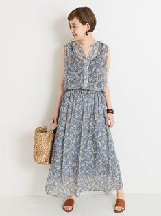 ◆大人フェミニンに着こなせる!花柄ワンピースが登場!夏は一枚でさらっとシンプルに着こなしたいアイテム