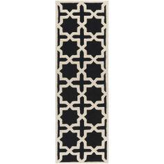 "Safavieh Handmade Cambridge Moroccan Black Wool Runner Rug (2'6"" x 8') | Overstock.com Shopping - Great Deals on Safavieh Runner Rugs"