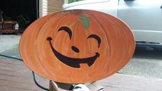 Turned an old satellite dish in to halloween yard art instead of throwing it away!
