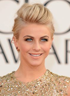 Julianne Hough's pompadour and more updo inspiration from the red carpet for #brides. #wedding