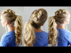 Fabulous Ideas for Mohawk Ponytail Hairstyle Pics Box Braids Hairstyles, Dance Hairstyles, Work Hairstyles, Hairstyle Photos, Mohawk Ponytail, Ponytail Styles, Braided Ponytail, Hair Photo, Hair Pictures