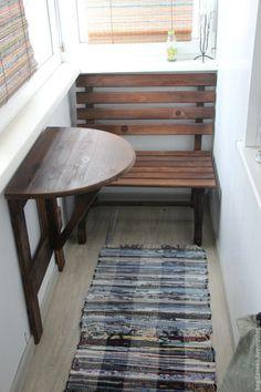 Мебель ручной работы. Ярмарка Мастеров - ручная работа. Купить Комплект для балкона. Handmade. Комплект, стол, скамья, складной стол