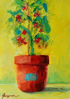 Tomato plant painting #art #print