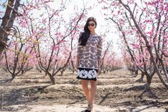 Spring in Bloom in our Printed Ponte Shift on @Stylishlyme