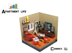LEGO Apartment life - TV room
