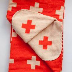 Cross Blanket by Pia Wallen: Made of ecological cotton flannel. #Blanket #Pia_Wallen
