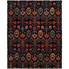 Wildon Home ® Hand-Tufted Blue Area Rug Rug size: Rectangle x Sky Brown, Complimentary Color Scheme, Ikat Pattern, Hand Tufted Rugs, Outdoor Area Rugs, Carpet Runner, Blue Area Rugs, Blue Rugs, Decoration