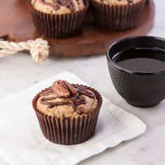 Banana Pecan Chocolate Chip Muffins, Gluten Free. Makes the morning so much better.