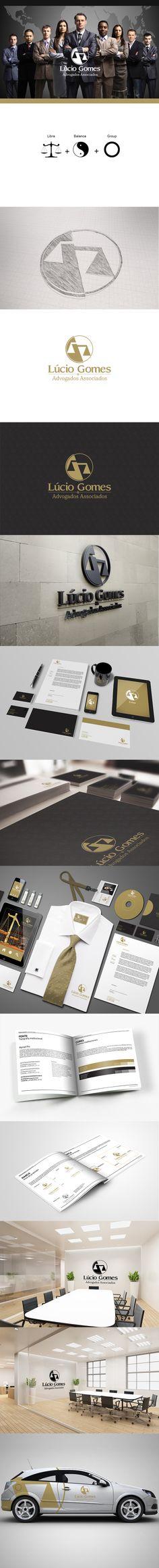 O projeto criado para um o escritorio Lúcio Gomes Advogados e Associados consiste na elaboração do logotipo e da identidade visual da empresa.