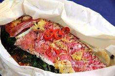 紙包魚 Poisson en papillote(紅鯔魚/鱒魚) @ 松露玫瑰 :: 痞客邦 PIXNET ::