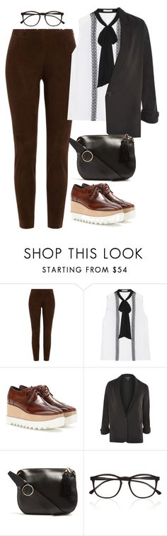 """""""Untitled #1995"""" by rowan-asha ❤ liked on Polyvore featuring Ralph Lauren Black Label, Alice + Olivia, STELLA McCARTNEY, Topshop, Hillier Bartley and Illesteva"""