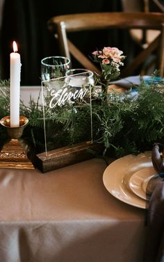 Easy and Affordable DIY Wedding Table Numbers – A Plentiful Life  If you want to create your own acrylic wedding signs, it's as easy as tracing your favorite font. Check out the blog for the step by step.   This DIY worked out to less than $3 per table. Now that's a wedding on a budget.