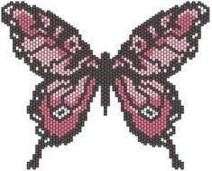Схема плетения бабочки из бисера