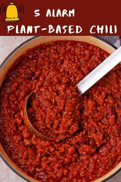 5 alarm plant-based chili is the rich, spicy hot, flavorful, and healthy chili 'non-Carne' that warms you up inside and out. #anothermusicinadifferentkitchen #veganchili #5alarm Healthy Chili, Vegan Chili, Chipotle Chili, Chipotle Pepper, Chili Recipes, Food Processor Recipes, Plant Based, Spicy, Easy Meals