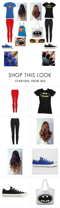 """""""Your's And Your BFF'S Superhero Outfits"""" by sabriyaprincess0405 ❤ liked on Polyvore featuring MANGO, River Island, Blonde + Blonde, Converse, LAUREN MOSHI and Azature"""