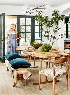 A dançarina, cantora e atriz criou, ao lado do arquiteto Steve Wunderlich e do designer de interiores Jake Arnold, uma casa confortável e equilibrada