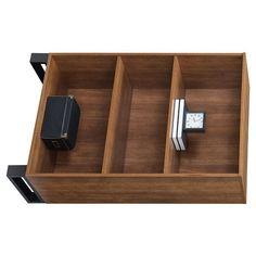 "48"" 3 Shelf Tavia Bookshelf Light Walnut - Whalen : Target 3 Shelf Bookcase, Metal Bookcase, Bookcase Styling, Bookshelves, 4 Cube Organizer, Bookshelf Lighting, College Dorm Rooms, Room Essentials, Walnut Finish"