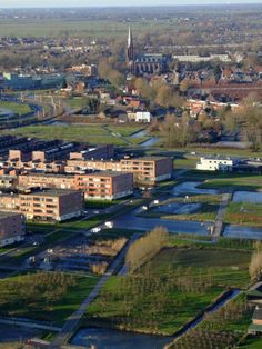 View from the Gerbrandy tower, IJsselstein. With St Nicolas church.