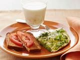 Picture of Broccoli Frittata with Tomato Toast and Banana Milk Recipe