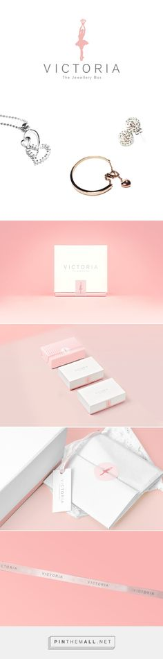 Victoria The Jewellery Box on Behance by ZiYu Ooi Penang Island, Malaysia curated by Packaging Diva PD. Beautiful branding and packaging for an online store selling fine jewelry.