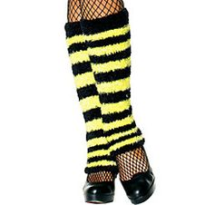 Adult Bumblebee Striped Leg Warmers Party City $9.99