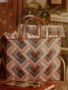 Orchid Angle Tote 1/4