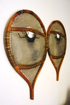 Eastern Subartic Indian Snowshoes – Possibly Innu or Naskapi c. 1855 – century Wood, babiche, cotton coth, metal (nails) x x © Vintage Winter Native American Photos, Native American Women, Native American History, Native American Indians, Winter Camping, Winter Travel, Bearded Tattooed Men, Bearded Men, Mountain Gear