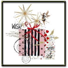 Wish Upon a Star Holiday Digital Art Collage by HemeonArtworks, $7.00