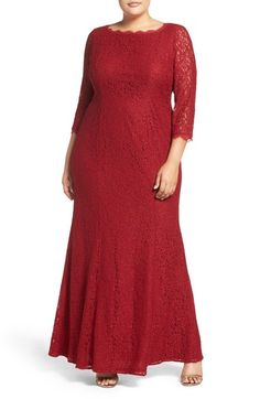 Adrianna Papell Lace Gown (Plus Size) available at #Nordstrom