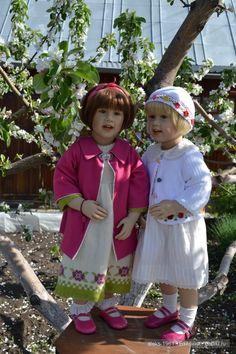 Яблони в цвету и куколки Сиссель Скилле / Коллекционные куклы Sissel Bjorstadt Skille / Бэйбики. Куклы фото. Одежда для кукол