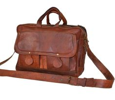 LEATHER MEN'S BUSINESS BAG