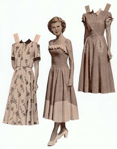 The Paper Collector - Paper doll cut from old catalog in the 1940's.  This is a great site for paper doll lovers!